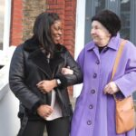 Elderly care recipient with respite carer